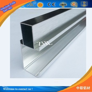 Hot order ! extrusion aluminium profile for furniture / Anodized ss brush polished Modular aluminum profile for kitchen cabinet