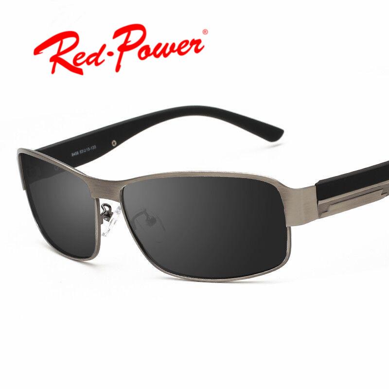 4bd23d6a38 Redpower rétro classique hommes de métal lunettes de soleil polarisées  Européen et Américain square drive lunettes