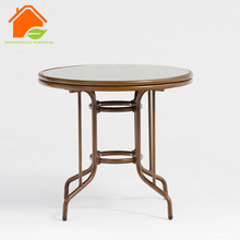 Balcony Bar Small Glass Top 2 Seater Dining Table