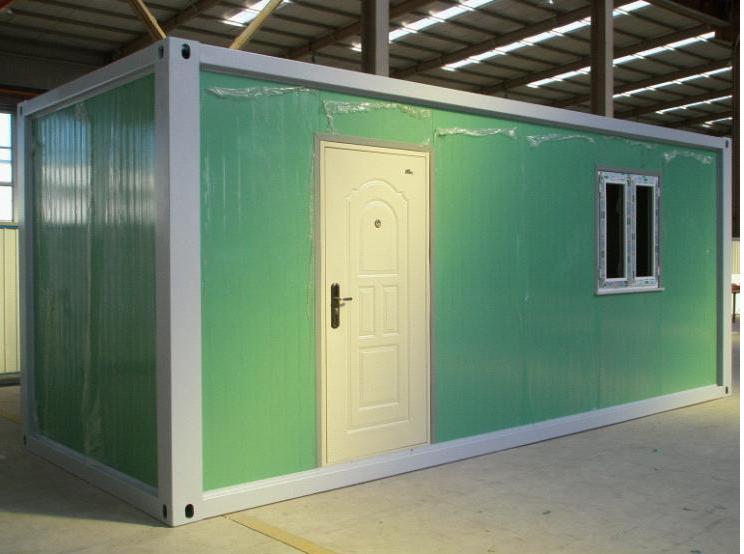 Lujo oficina verde prefabricada casa del contenedor for Oficina prefabricada