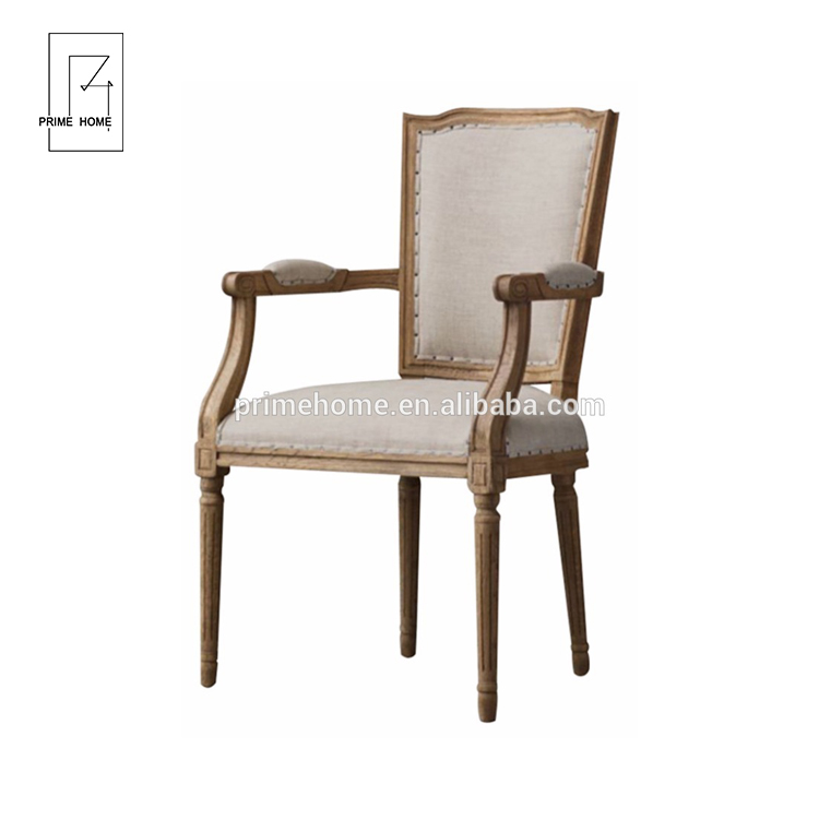 Made in China Superior Quality Vintage French Dining Chair Wood, Office Hampton Solid Wood Dining Chair