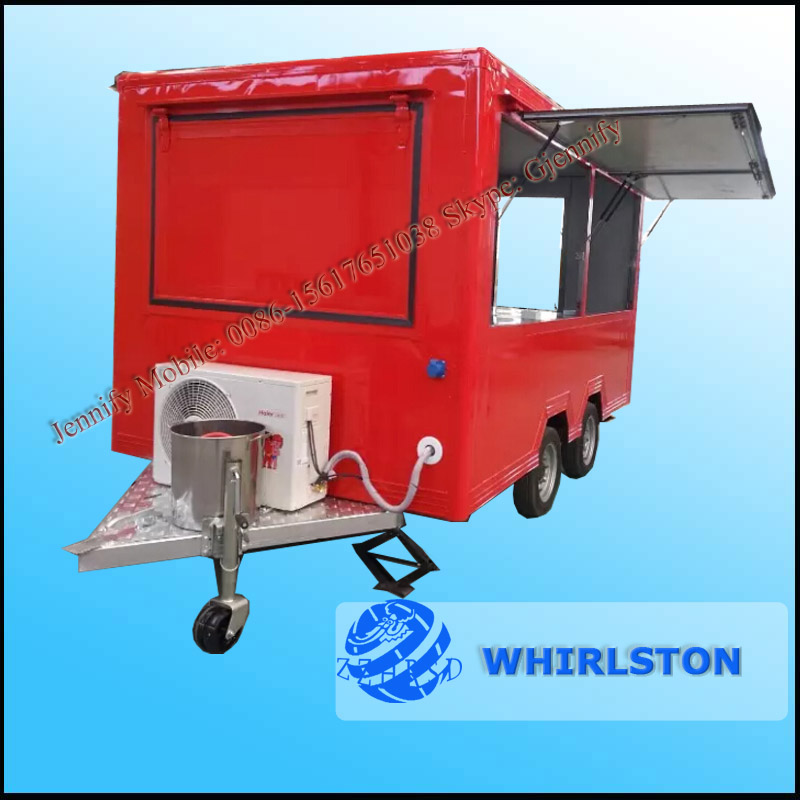 Customized Shawarma Food Truck/Food Churros Vending Trailer/Mobile Fryer Food Cart
