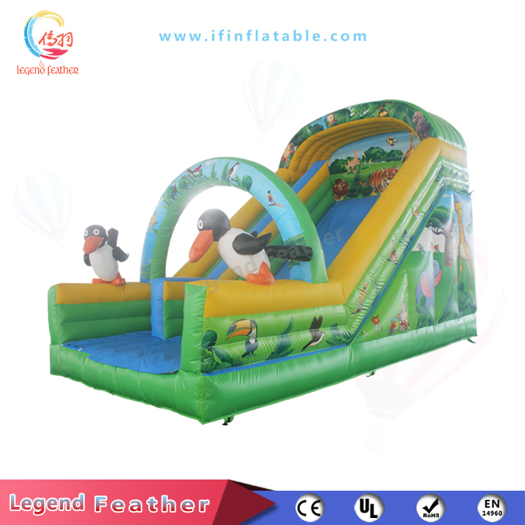 Outdoor Or Indoor Dry Slide With Cute Animal For Children