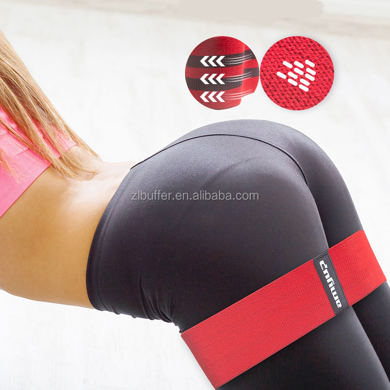 Wholesale eco friendly workout light custom hip resistance band with fabric covered