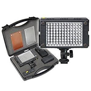Z-96K Professional Photo & Video LED Light Kit for Panasonic AG-3DA1, AG-AC130A, AG-AC160A, AG-AC8PJ, AG-AC90A, AG-AF100A, AG-AF105, AG-DVX100B, AG-HCK10G, AG-HMC40PJ, AG-HMC80PJ, AG-HMC150PJ, AG-HPX250PJ, AG-HPX255, AG-HPX370, AG-HPX600P, AG-HVX200, AJ-HPX3100GJ, AJ-HPX3700, AJ-PX270, AJ-PX5000G,
