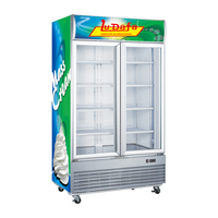 Procool commercial glass door freezer for ice cream
