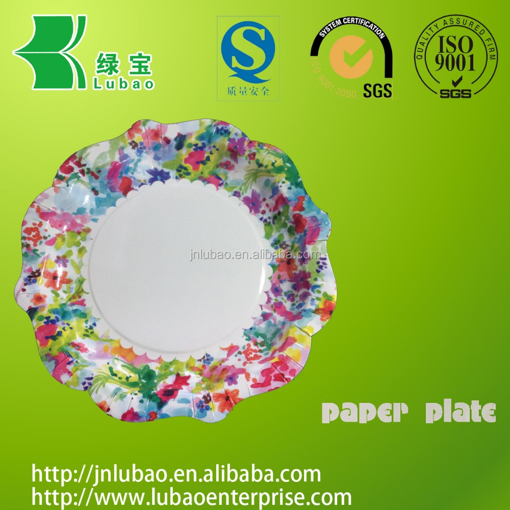 Disposable &stocked paper plates/trays for various fruit