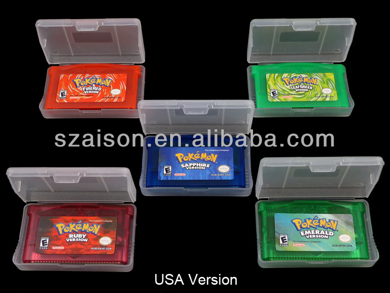 Different Video Games Card For GBA Pokemon Ruby+LeafGreen+FireRed+Emerald+Sapphire
