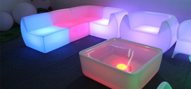 morden RGB glowing led furniture