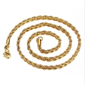 8c1e496c7875 Stock Sale 3mm Indian Gold Mens Necklaces