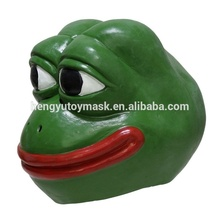 Grappige Cartoon Adult Party Dress Up <span class=keywords><strong>Latex</strong></span> Kikker Pepe meme <span class=keywords><strong>masker</strong></span>