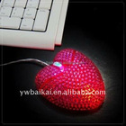 rhinestone heart shape mouse