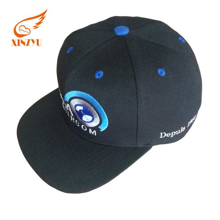 Black 3d embroidery overwatch flat brim game cap snapback caps