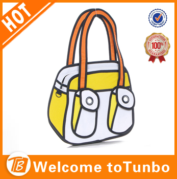 New Uni Lovely Comic Canvas Bag 2d Drawing Jump From Cartoon Paper Fun Handbags Product On Alibaba