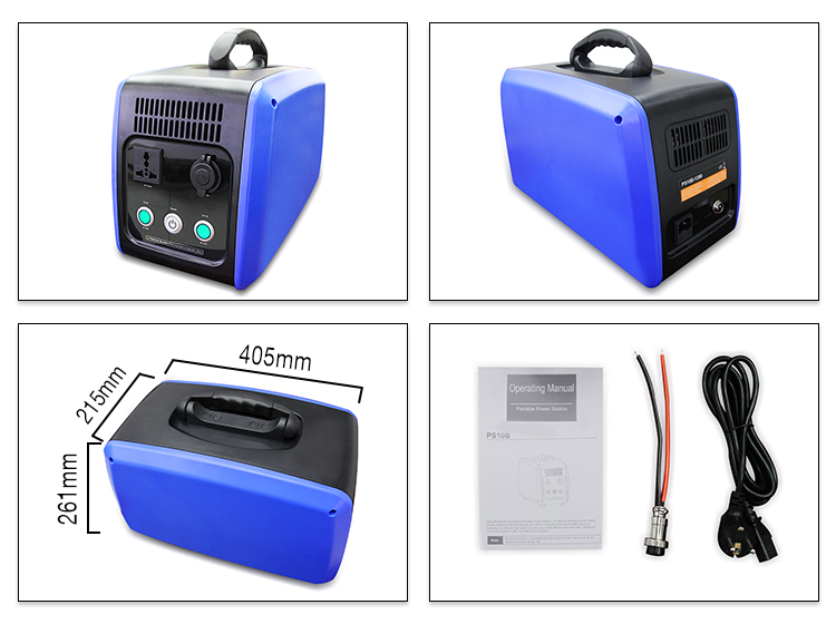 DC12V 1500WH Portable Solar System Mobile Power UPS Battery for Home