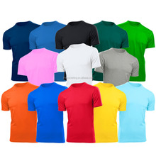 China Wholesale High Quality Mixed Color Combed Cotton Polyester Plain T Shirt
