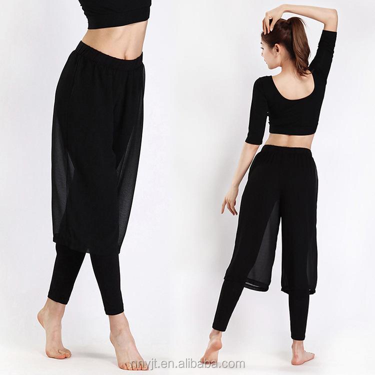 Noir De Yoga Pantalon Leggings pour Femmes Pilates Vêtements Legging  Mousseline de Soie À L' ff07129f0702
