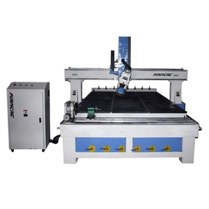 High End Specification 4 Axis 3d Cnc Woodworking Router With Linear ATC For Furniture