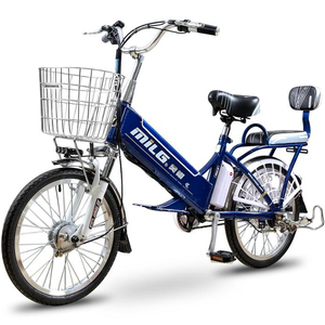 Customized electric bicycle/e-bike/bicicleta electrica moped with pedals and basket