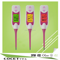 COCET Hot Sale! temperature high low alarm,waterproof digital thermometer with alert