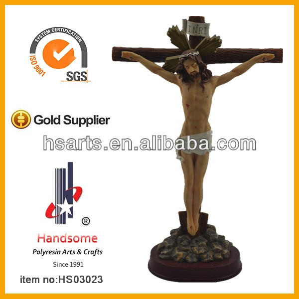 wholesale Resin Christian Religious Suffering Jesus Cross Product