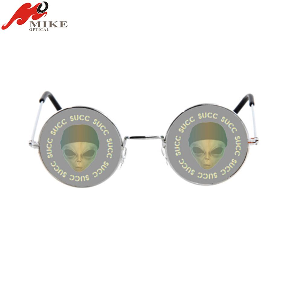 Holograma 3d Gafas,Modelo Del Cráneo Gafas Redondas De Metal - Buy ...