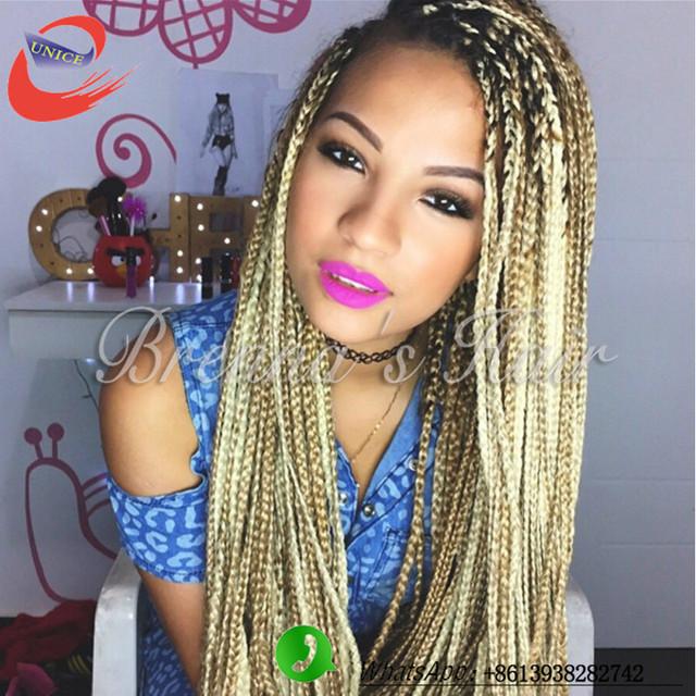 G02 A Alicdn Kf Htb1rckpkpccq6fxg Top Quality Blonde 613 Crochet Twist Hair Box Braid Extensions 20strands Synthetic Braiding