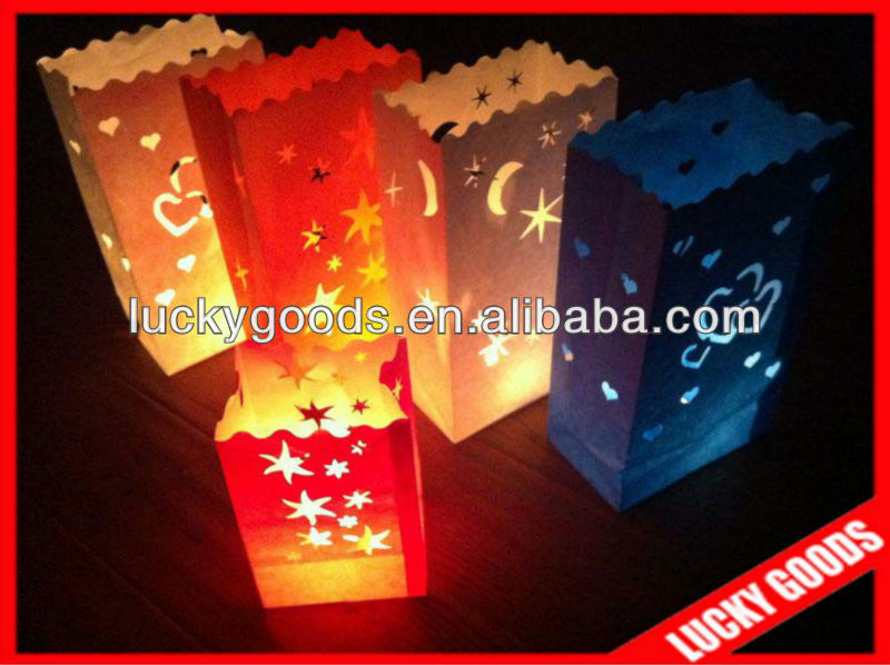 promotional customized candle paper bag