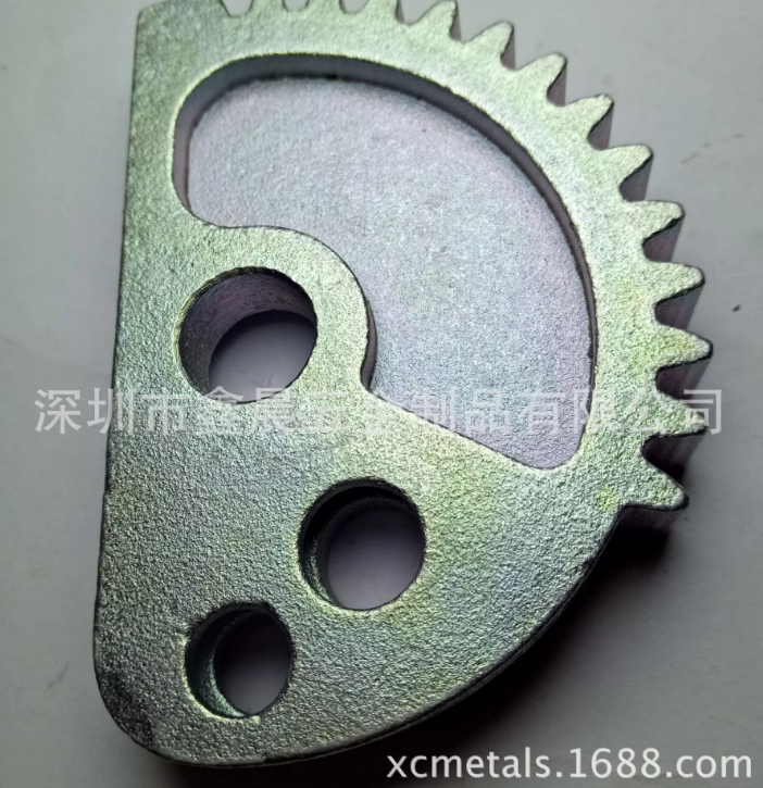 Special customized materials hardware tool ,Alloy steel casting,with CNC machining,Blue zinc plating