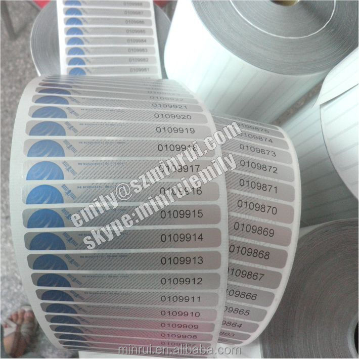 Numbered tamper evident labels,self adhesive serial number security stickers,serial model number sticker labels