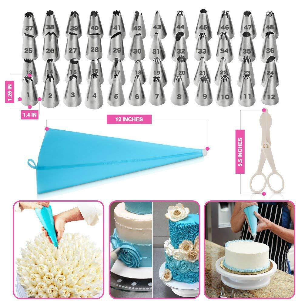 Set of 100Pieces Cake Decorating Supplies Kit for Beginners Baking Cake Decorating Tools