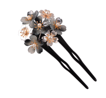 acrylic acetate flower pearl fork with alloy metal hair ornaments accessories manufacturers