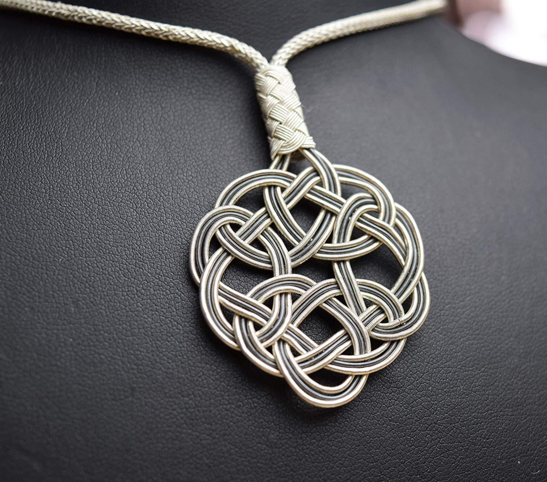 HANDMADE - HAND WOVEN Vintage Sun Knot Kazaziye Necklace - Pendant - 100% Pure Silver - 1000 carat