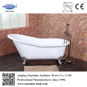 freestanding slipper traditional porcelain over cast iron tubs with claw foot