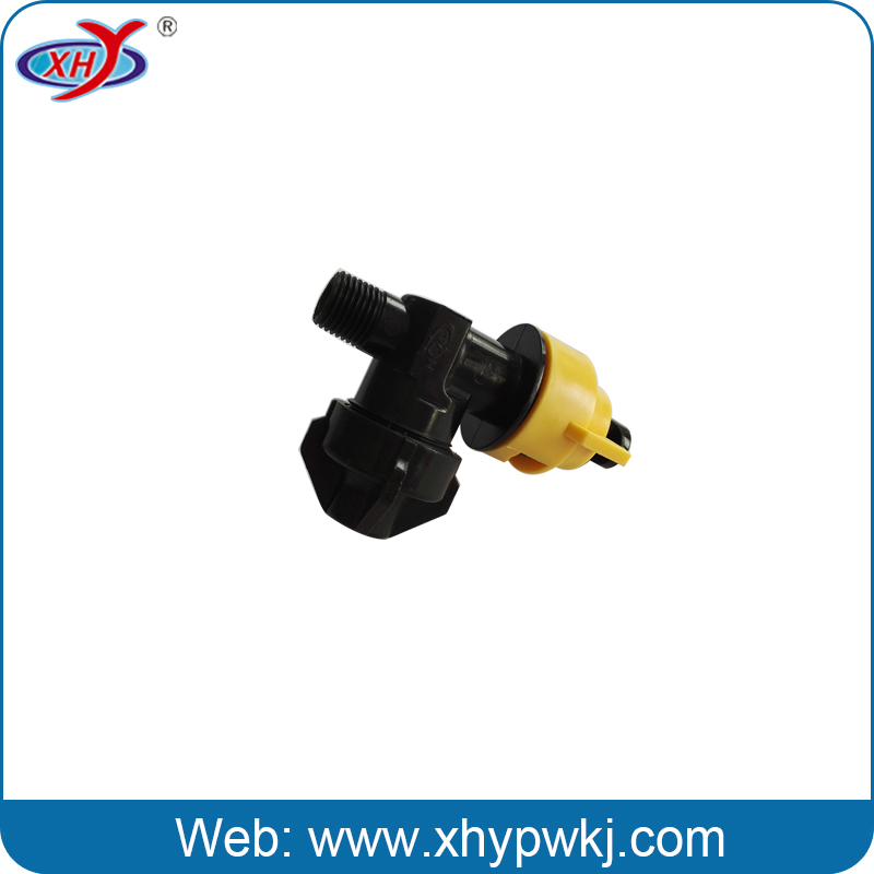 Green air atomizing water plastic fan spray nozzle