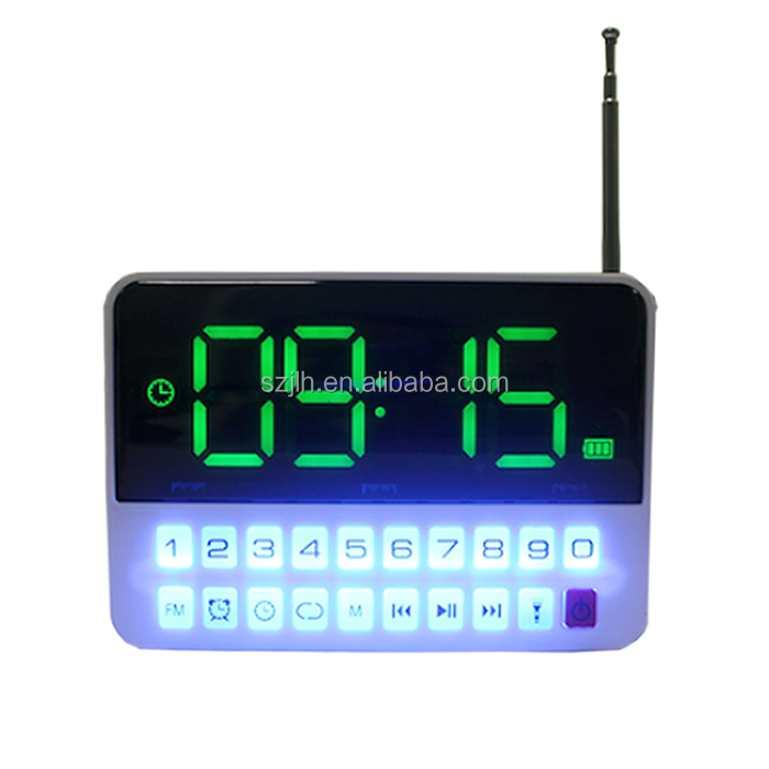 Digital alarm clock radio di Ordinare Opzionale BT AM carta di Colore per lo sport esterno USB MP3 music player Speaker