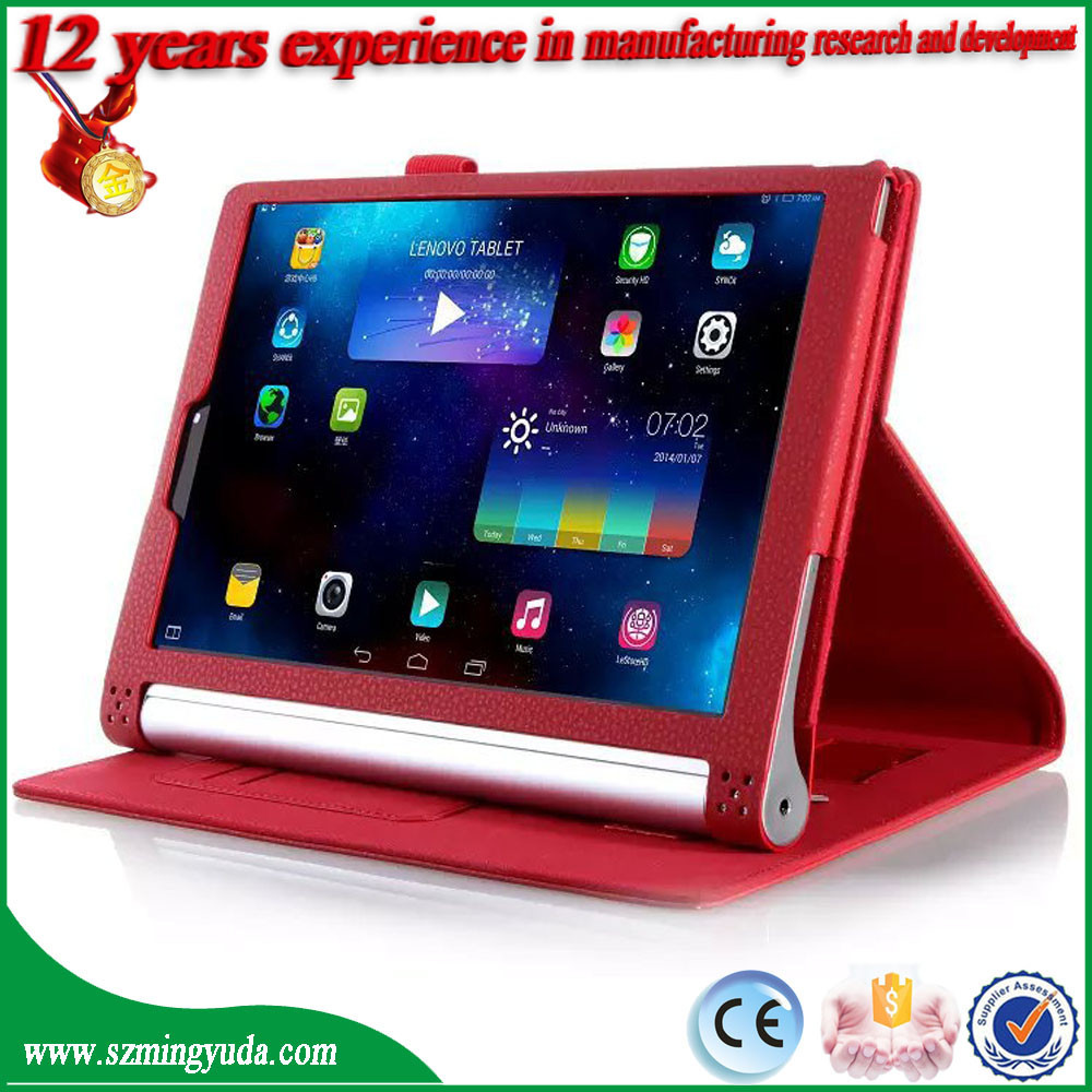 China Factory Flip Stand PU Leather Smart Case for Lenovo