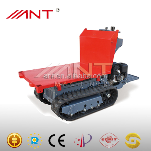 BY1000 Mini dump truck with track with front loader