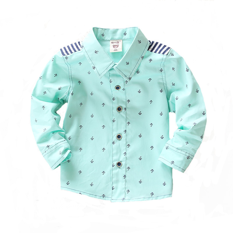 fcf1b9debb3c Buy Top quality 2015 NEW cotton long sleeve boys shirts autumn turn down  collar children shirt boy formal clothes,baby clothing 1-4Y in Cheap Price  on ...