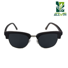 Novelties 2018 Round Polarized Metal Wood Sunglasses