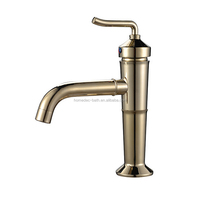 Luxury royal gold plated artistic brass basin faucets basin taps basin mixer