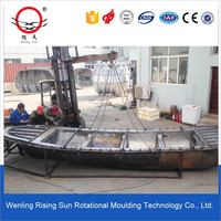 custom rotomolding plastic fishing boat mold oem service