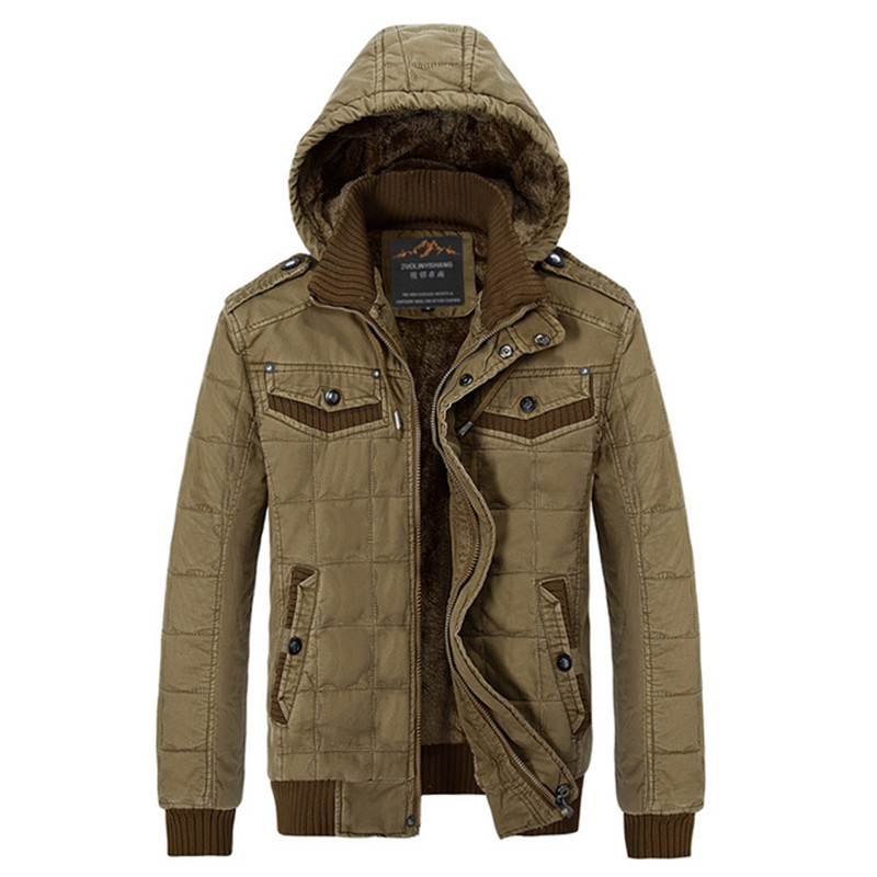 2015 Mens Winter Military Style soldier Warm Jacket