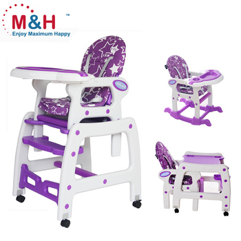 Baby High Chair 3 IN 1 Multifunctional Plastic baby Highchair Kids dinner Chair with Rocker  sc 1 st  Alibaba & Baby High Chair 3 In 1 Multifunctional Plastic Baby Highchair Kids ...