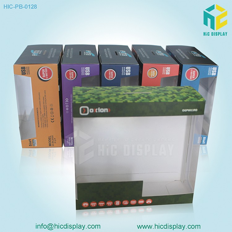 HIC Paper Cardboard Box with Clear PVC Window For USB Packaging