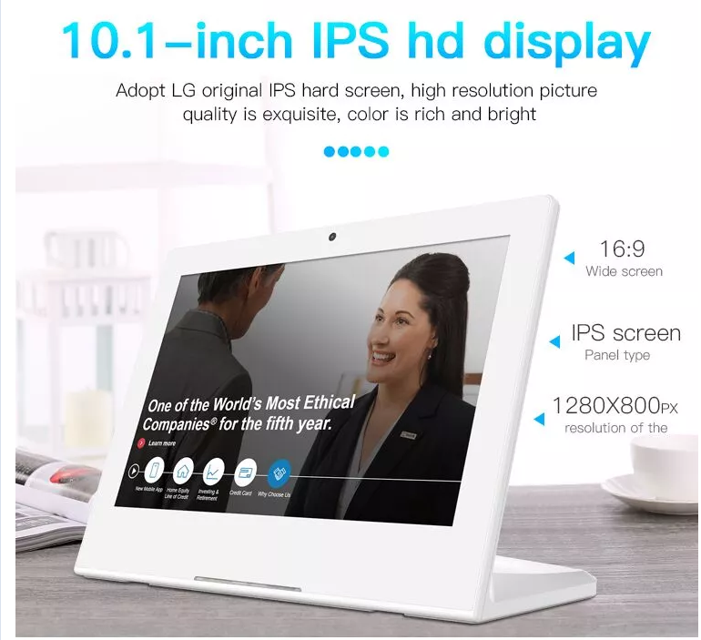 Desktop customer feedback 10 inch android os 8.1 touch evaluator all in one pc tablet with rj45 poe lan port nfc function