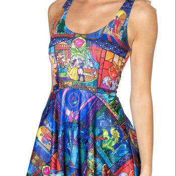 a950e4705776 Wholesale Women s Digital Printing Dress Skater Dress Puffy Skirt ...