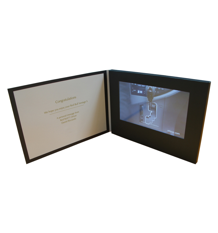 """Touch Screen 7"""" video brochure Etindge with customized printing"""