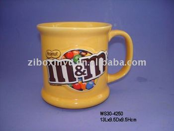 3d m m coffee mugs with full printing for promotion stoneware mug