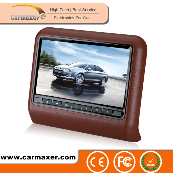 car clip on headrest dvd player for vw for car seats support wireless game USB/SD/FM/IR